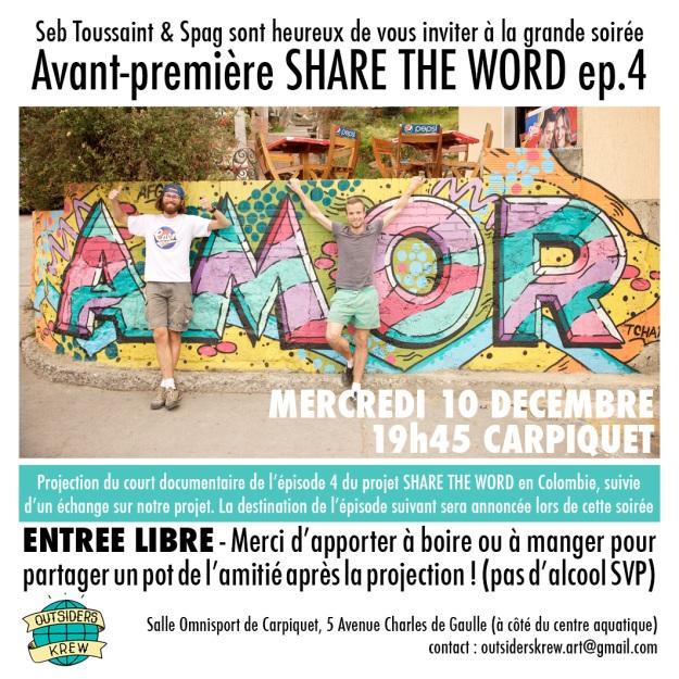 invitation soirée Share The Word